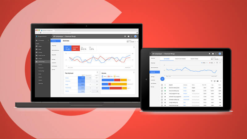 google adwords interface