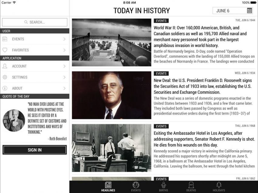 The History App Finally Worthy of the iOS