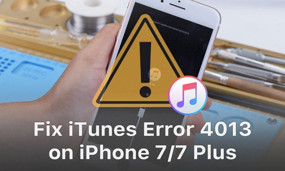 Fix iTunes Error 4013