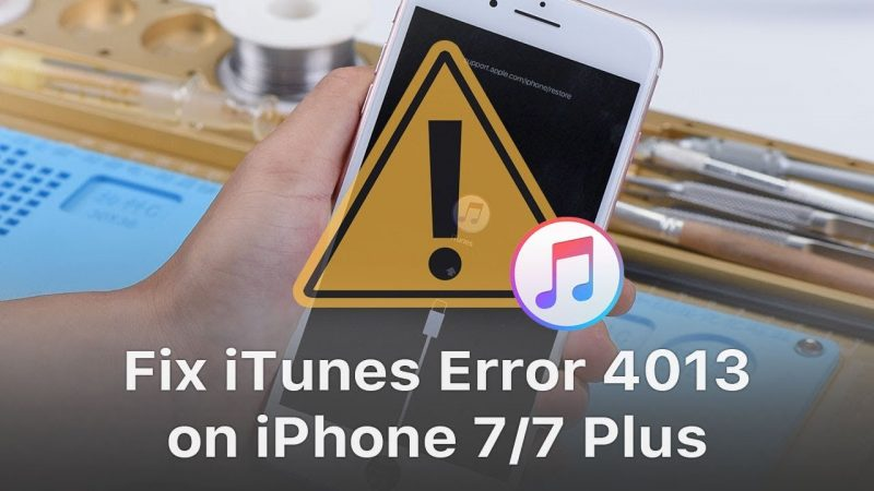 Fix iTunes Error 4013