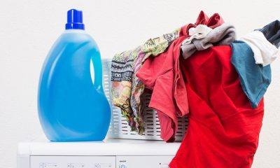 Pesky Stains from Laundry Products