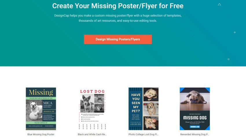 How to Make a Missing Poster Online?
