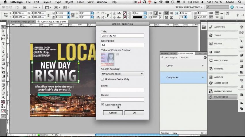 interactive InDesign document