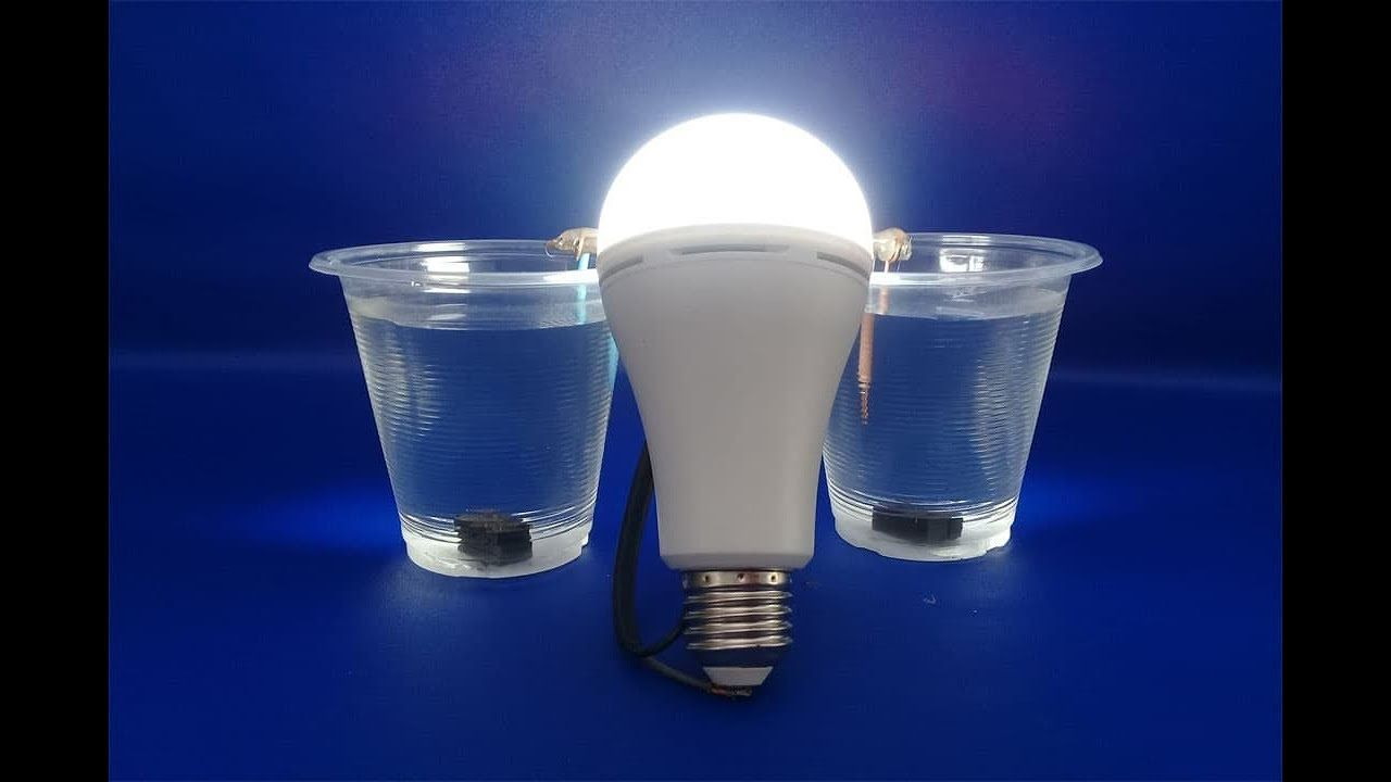 free energy salt water and magnets with light bulbs