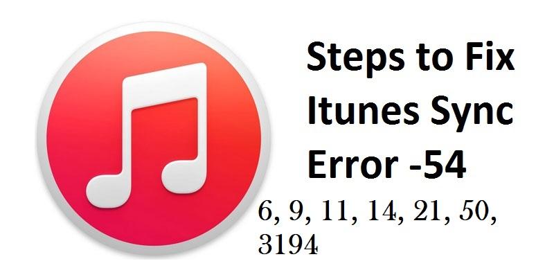 iTunes Sync Error