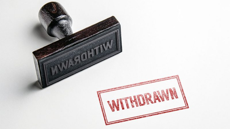 Withdrawn Support
