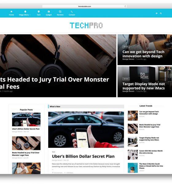 tech magazine wordpress theme