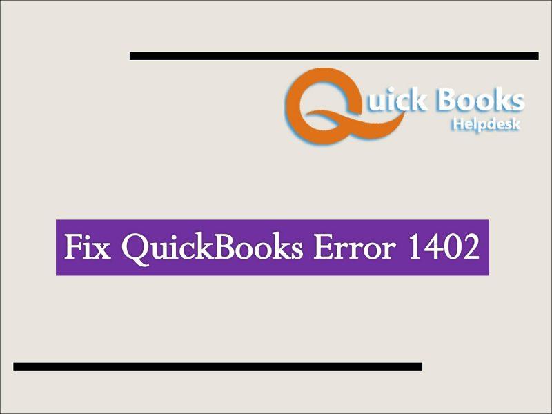 Quickbooks error 1402