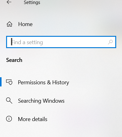 How do Manage Search History in Windows 10