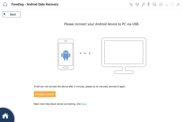 Install FoneDog Toolkit and Connect Your Android Device