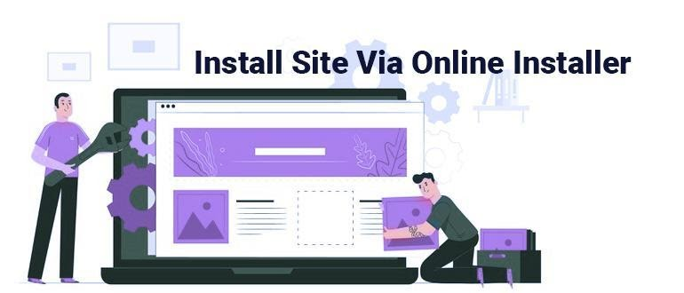 Install Site Via Online Installer
