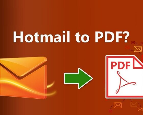 Save Hotmail Emails as PDF