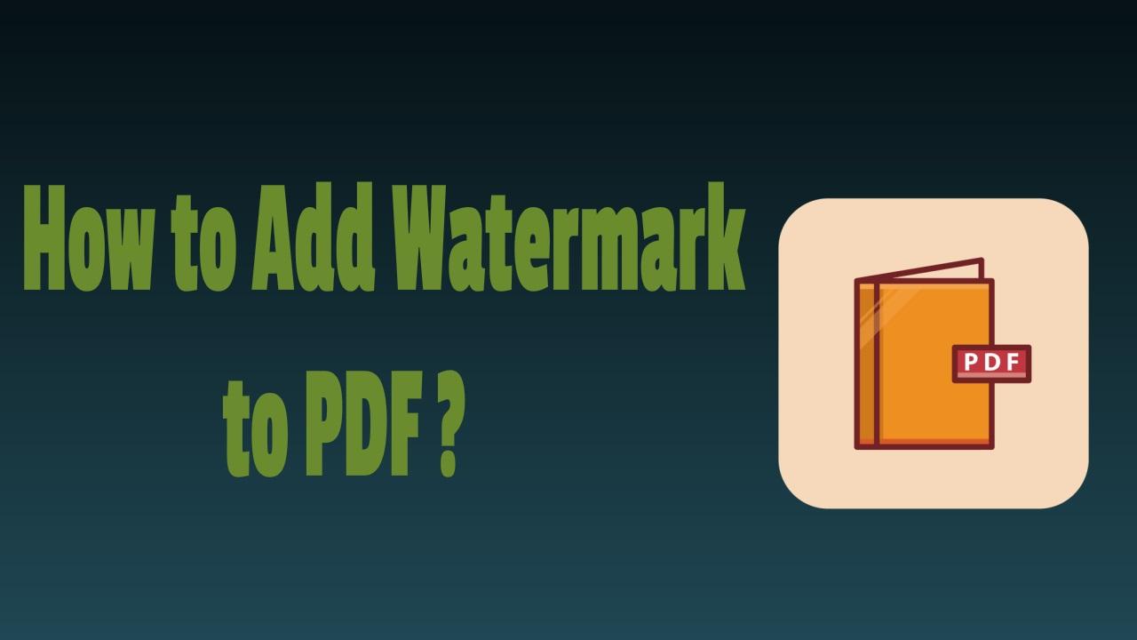 Add Image Watermark in PDF