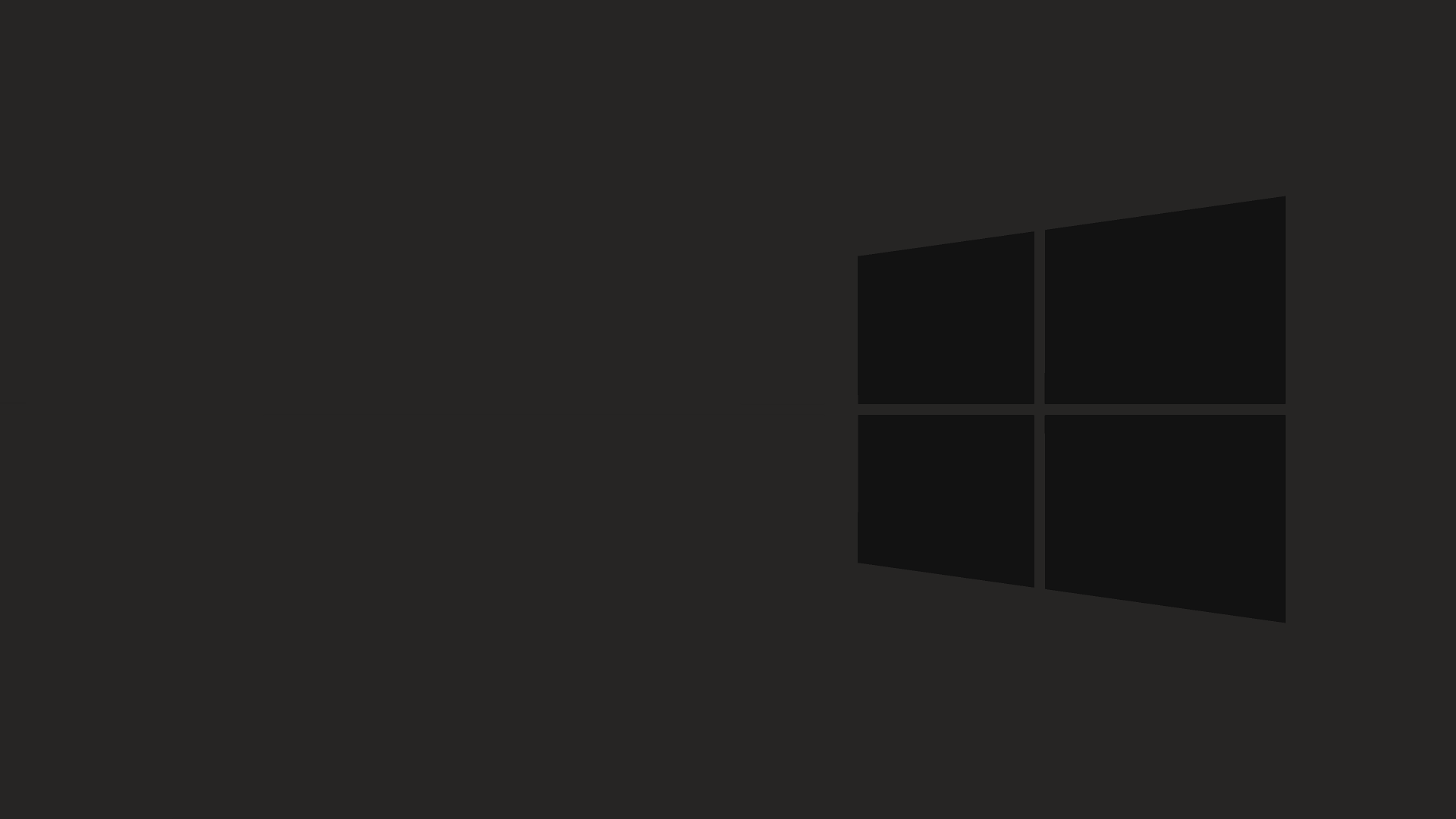 Black Desktop Background In Windows 10