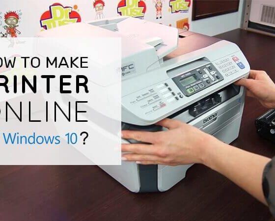Printer online in Windows 10