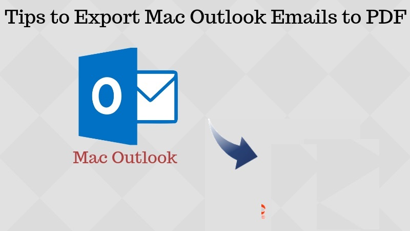Save Mac Outlook Email as PDF