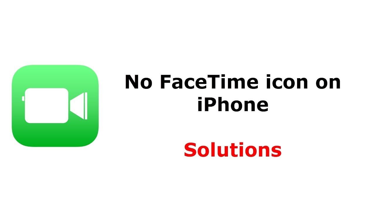 Face Time Icon missing on iPhone